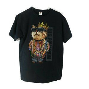 Big Paw Paw Kitty Medium T-shirt Gangster Cat
